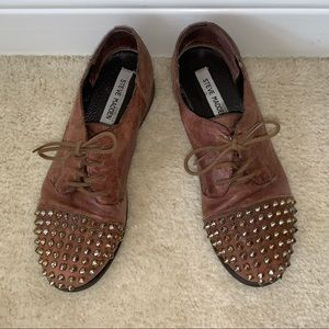 Steve Madden Brown Leather Oxford Shoes, Sz 7.5